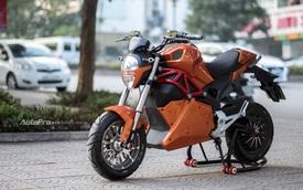 Cận cảnh xe điện mang kiểu dáng Ducati Monster, giá 25 triệu Đồng tại Hà Nội
