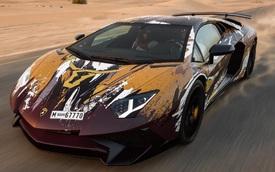 Bộ áo lạ mắt của hàng hiếm Lamborghini Aventador SV tại Dubai