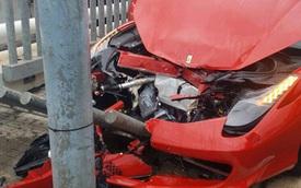 """Ferrari 458 Spider """"nát đầu"""" tại Tây Ban Nha"""