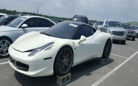 Siêu xe Ferrari 458 Italia ngập nước vẫn được trả giá cao