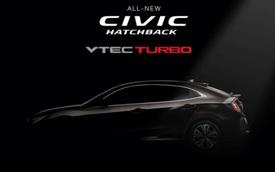 Honda chính thức chốt ngày ra mắt Civic Hatchback 2017 tại Đông Nam Á
