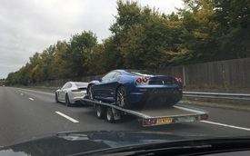 """Dùng xe sang Porsche Panamera để kéo """"siêu ngựa"""" Ferrari 430 Scuderia: Chỉ có thể là nhà giàu"""