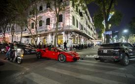 """""""Ngựa chồm"""" Ferrari 488 Spider màu đỏ dạo phố cuối tuần"""