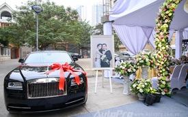 """Cận cảnh Rolls-Royce Wraith """"quà cưới"""" của Hoa hậu Bản sắc Việt Thu Ngân"""