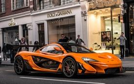 1 trong số 6 chiếc McLaren P1 LM được sản xuất trên thế giới bị bắt gặp tại London