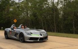 Ông bố gây tranh cãi khi cho con nhỏ cầm vô lăng siêu xe Mercedes-Benz SLR McLaren Stirling Moss