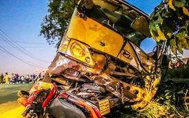 Xe khách gây tai nạn kinh hoàng làm ít nhất hai trẻ tử vong