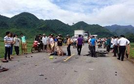Đứng xem tai nạn, một phụ nữ bị xe đầu kéo cán chết