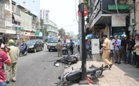 Chạy CSGT, nam thanh niên phóng ngược chiều, tông vào xe máy
