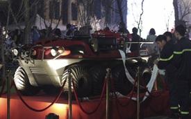 Cận cảnh xe phòng cháy, chữa cháy và cứu nạn, cứu hộ lưỡng cư Nhật Bản trao tặng cho TP Hà Nội