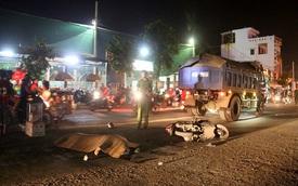 Va chạm với xe tải chở đá, 1 người phụ nữ tử vong
