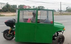 Nghệ An: Người đàn ông tự chế xe ô tô điện giá 15 triệu đồng để chở con gái đi học mỗi ngày