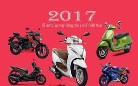 """Loạt xe máy mới, giá """"mềm"""" đáng chú ý ra mắt tại Việt Nam trong năm 2017"""