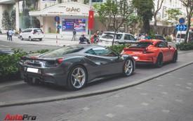 Bộ đôi siêu xe của Cường Đô La tạo dáng trên đường phố Sài Gòn