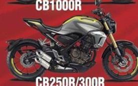 Lộ ảnh thiết kế naked bike Honda CB250R 2018 và Neo Sports Cafe 2018