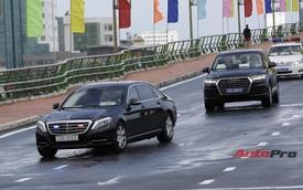 Xe Mercedes-Benz bọc thép của Tổng thống Hàn Quốc tại Đà Nẵng