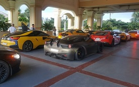 """Ferrari 488 GTB của Cường """"Đô-la"""" cùng dàn siêu xe đại gia Việt lên Đà Lạt góp vui với đoàn xe màu vàng"""