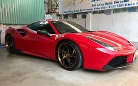 Sau Lamborghini Huracan, tay chơi Sài thành tiếp tục chọn hãng PUR để độ la-zăng cho Ferrari 488 GTB