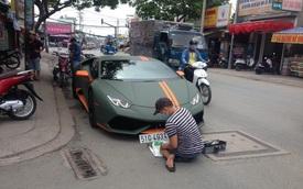 Lamborghini Huracan độ mâm bản giới hạn 273 triệu Đồng gắn biển số dưới lòng đường