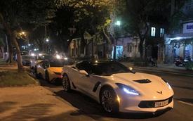 """Chevrolet Corvette C7 Z06 Nha Trang dự tiệc đêm cùng dàn siêu xe độ """"khủng"""" của đại gia Đà thành"""