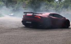 Lamborghini Huracan độ ấn tượng biểu diễn drift