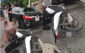 Hà Nội: Nam thanh niên điều khiển xe Honda SH tông vào Toyota Camry đang đỗ bên đường