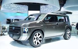 Cận cảnh xe SUV lai xe van chở hàng Toyota Tj Cruiser ngoài đời thực