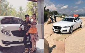 """Kỷ niệm ngày cưới, Minh """"Nhựa"""" tặng xe sang Jaguar XF cho vợ"""