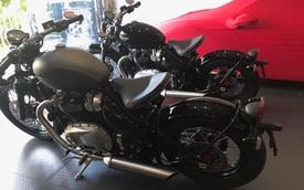"""Cường """"Đô-la"""" tậu cặp mô tô cổ điển Triumph Bonneville Bobber 2017, tổng trị giá hơn 1,1 tỷ Đồng"""