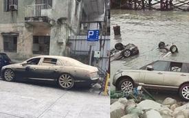 Không chỉ Range Rover, Bentley Flying Spur W12 cũng gặp nạn sau bão Hato tại Macao