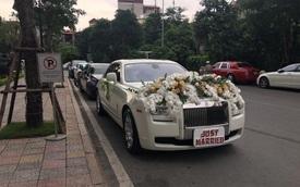Đại gia Hà Nội rước dâu bằng cặp đôi xe siêu sang Rolls-Royce và dàn xe sang