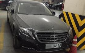 Hà Nội: Mercedes-Maybach S600 trị giá 14,2 tỷ Đồng làm bạn với bụi trong hầm đỗ xe