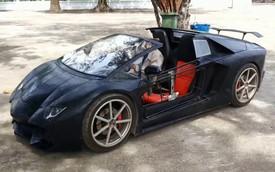 Không đủ tiền, nông dân tự chế siêu xe Lamborghini mui trần với động cơ xe máy