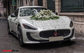 Maserati Granturismo độ bodykit MC Stradale làm xe hoa tại Hà Nội