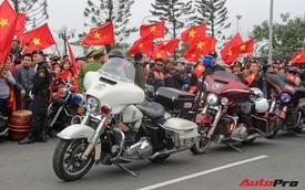 Dàn xe Harley-Davidson đón đội tuyển bóng đá nam U23 Việt Nam về nước