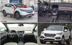 SUV 7 chỗ, chọn Honda CR-V 2018 hay Hyundai Santa Fe 2017?