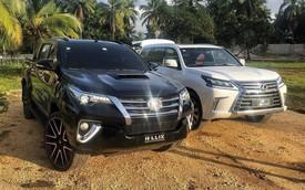 Dân chơi lột xác Toyota Hilux thành Fortuner bán tải, độ cả theo kiểu Lexus LX570