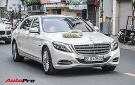 Thiếu gia Sài Gòn rước dâu bằng dàn xe sang trắng, đen hoành tráng