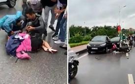 Tài xế mở cửa bất cẩn khiến người phụ nữ chạy xe máy bị kéo lê gần 10m - Vụ tai nạn ám ảnh