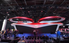 Lộ diện gian hàng của VinFast tại Paris Motor Show 2018 trước giờ G: Màn hình LED 6K, biểu tượng cánh sen Việt