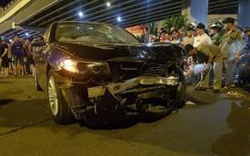 Ô tô BMW tông hàng loạt xe máy ở ngã tư Hàng Xanh, người bị thương nằm la liệt trên đường