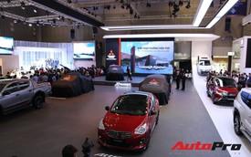 Toàn cảnh gian hàng Mitsubishi tại triển lãm ô tô Việt Nam 2018