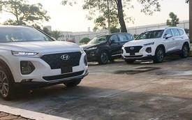 Loạt xe Hyundai Santa Fe 2019 bất ngờ lộ diện trong nhà máy tại Ninh Bình trước ngày ra mắt