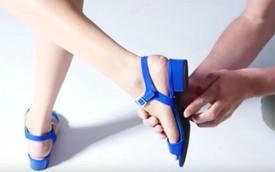 Đây là giày cao gót có thể gập gót lại được, rất phù hợp với chị em đi ô tô