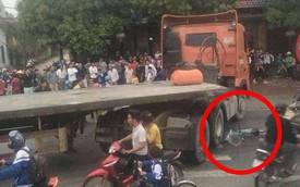 Clip: Cú ngoặt của xe container và hình ảnh kinh hoàng dưới gầm