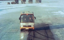 Đây là cách Mercedes-Benz từng thử phanh ABS trên xe bus và xe tải cách đây 40 năm