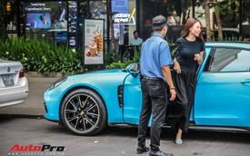 Bạn gái Cường Đô-la dạo phố Sài Gòn với Porsche Panamera màu độc
