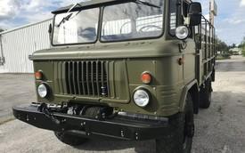Xe tải quân sự mới đi 2.600 km bị rao bán ngang xe máy