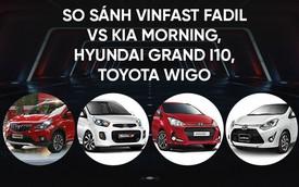 So găng thông số kỹ thuật: VinFast Fadil vs. Toyota Wigo vs. Hyundai Grand i10 vs. Toyota Wigo