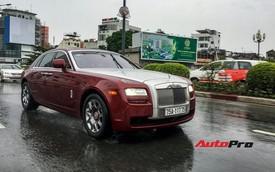 Không sợ thuỷ kích, đại gia Sài Gòn vẫn sử dụng xe siêu sang Rolls-Royce Ghost ngày bão số 9